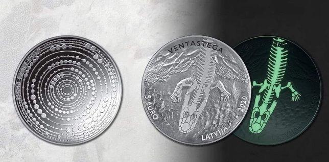 Moedas de prata Lituania Letónia diversos temas, belo design
