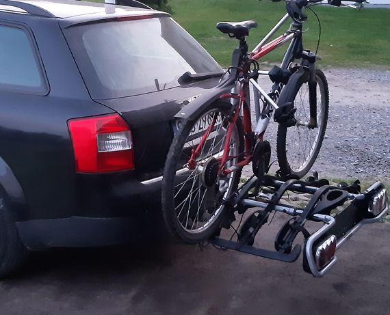 Wynajmę, wypożycze bagażnik podpinany do haka, na trzy rowery