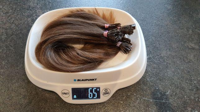 Włosy naturalne ścięte metoda keratynowa