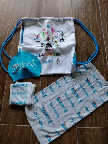Plecak, czepek, komin dla dziecka - Kinder Sport zestaw dla dziecka