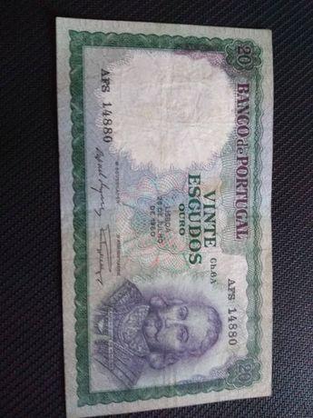 Nota de 20 escudos 1960