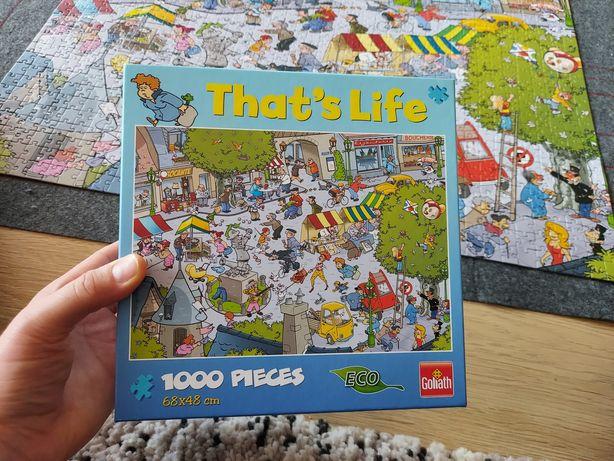 PUZZLE That's life / marki GOLIATH / 1000 elementów / STAN IDEALNY /