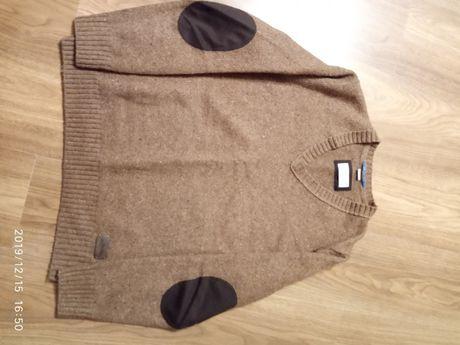 Sweter męski elegancki brązowy s.Oliver