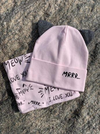 Трикотажный набор шапка и хомут! Кто хочет купить напишите в л.с!