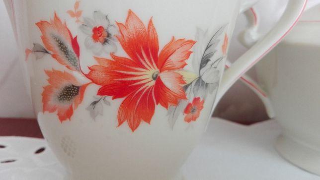 Cukiernica, mlecznik, stara porcelana Carl Tielsch, Wałbrzych