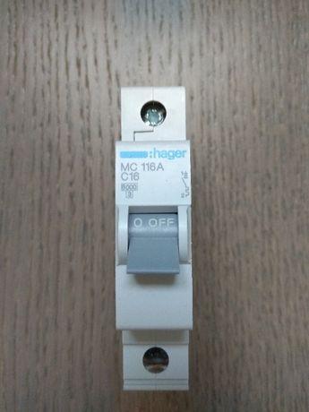 Автоматический выключатель Hager 16А тип C