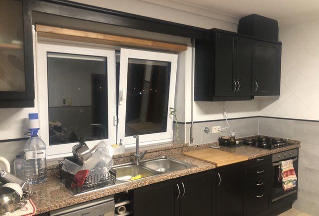 Moveis de cozinha+ maq.louca+placa+forno + bancada+pedra+torneira