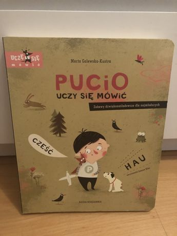 Książka dla dzieci Pucio uczy się mówić część I