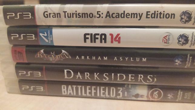 Gry na playstation 3: fifa, darksiders, battlefield, batman, gran tur