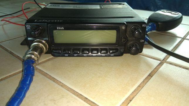 Zestaw Cb radio Lafayette Zeus + antena Midland okazja jak nowe