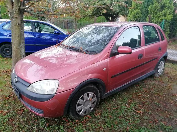 Opel Corsa silnik 1.2 75KM 2002 rok drzwi zderzak fotele klima