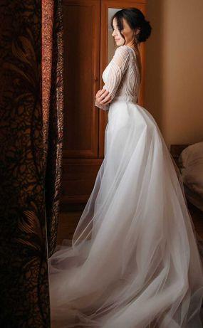 Дорогое свадебное платье-трансформер хс-с 42-44 размер