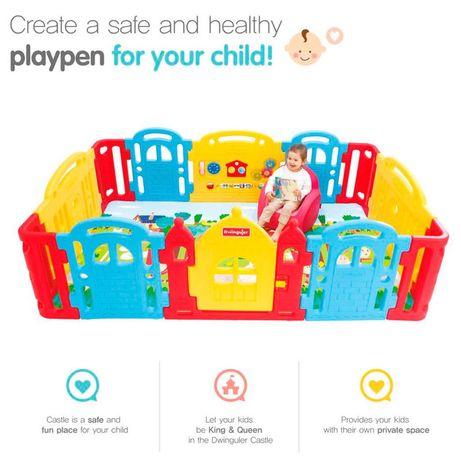Детский манеж-ограждение Dwinguler (Двингулер)с ковром и креслом