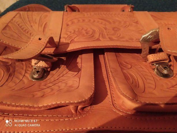 Продам Винтажный кожаный портфель- сумку FORCE TEN Authentic HAND MADE