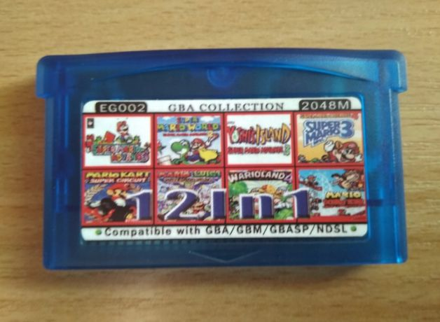 12in1 Game Boy Advance (Mario Wario Yoshi)
