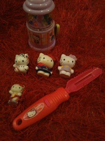 Miniaturas Hello Kitty com oferta utensilio e porta pedrinhas