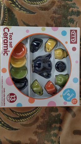 Набор посуды игровой чайный разноцветный