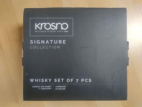 Komplet do whisky 7 częściowy Krosno karafka i szklanki Signature