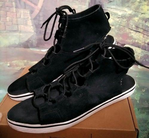 Босоножки сандалии adidas замша шнуровка оригинал 37.5