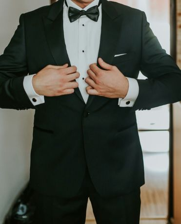 Koszula ślubna smokingowa Lancerto jak nowa wesele ślub smoking