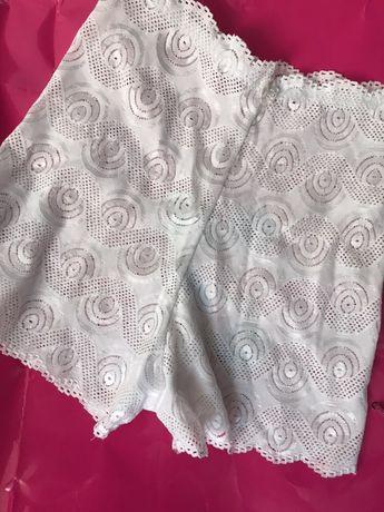 Ажурные кружевные гипюровые трусики шортики, прозрачные женские трусы