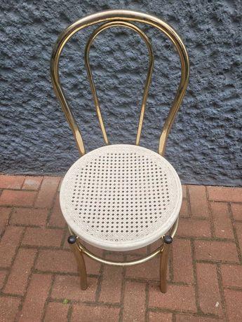 3 Krzesła metalowe krzesło