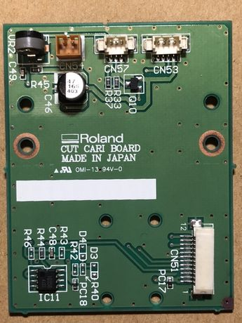 Roland cut cari board