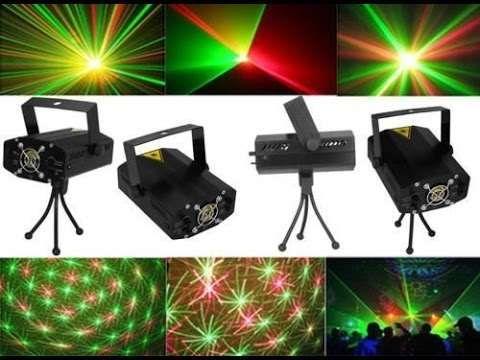 Projetor Laser p/ festas bares disco - verde e vermelho - c/ tripé