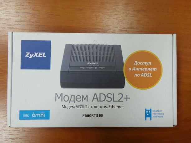 Модем ZyXEL ADSL2+ с портом Ethernet P660RT3 EE
