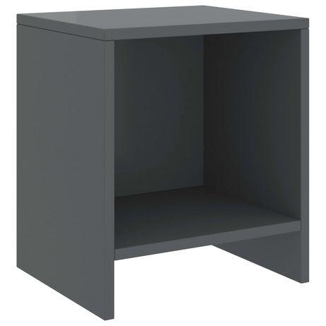 vidaXL Mesa de cabeceira 35x30x40 cm pinho maciço cinzento-escuro 322238