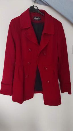Czerwony klasyczny płaszcz S, Polski produkt