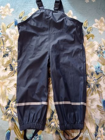 Грязепруф,дождевик для мальчика,непромокаемые штаны lupilu,12-24,86-92