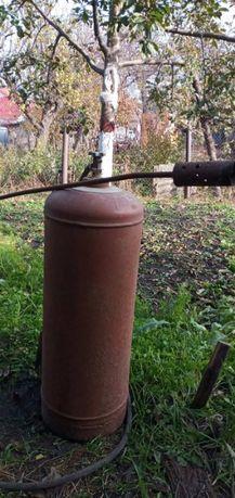 Газовый балон бу с горелкой для обработки