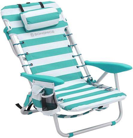 OUTLET - leżak plażowy krzesło turystyczne składane przenośne plecak
