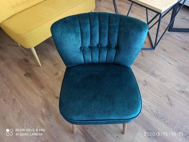 Fotel prl mały wygodny nowy