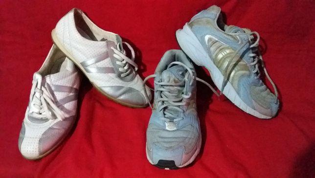 Кроссовки подростковые -кожа- ecco-40; adidas-40- оригинал