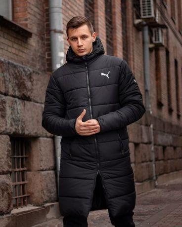 Зимний удлиненный пуховик Puma - Segment. Зимняя куртка Мужская куртка