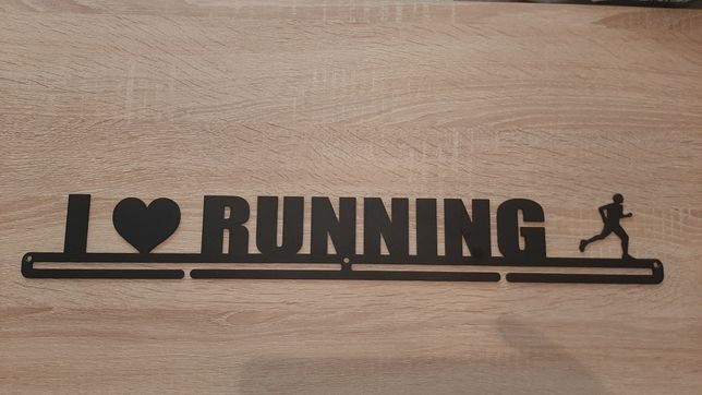 """Wieszak na medale """"I love running"""" 56 cm"""
