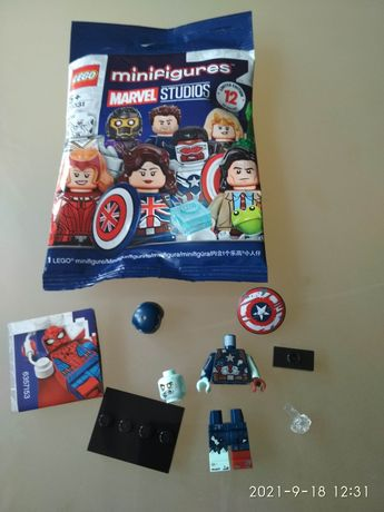 Minifigurka Kapitan Ameryka LEGO 71031, Marvel Studios Minifigures