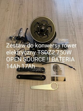 Silnik tsdz2 do konwersji na rower elektryczny z bateria OPEN SOURCE