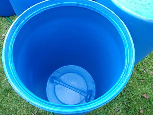 Beczki plastikowe na wodę deszczówkę 200l beczka na działkę budowę