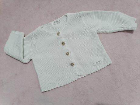 Sweterek kardigan newbie biały r. 62