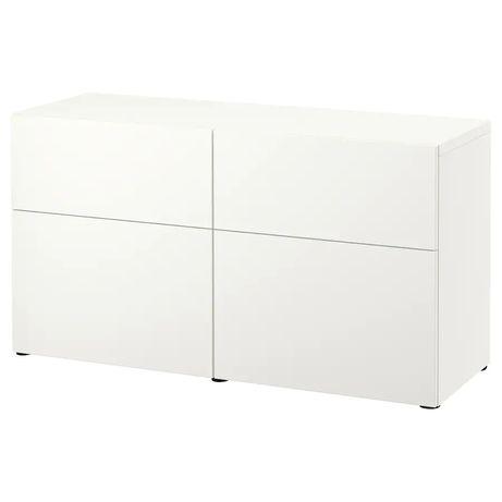 IKEA BESTÅ Komoda szafka z drzwiczkami i szufladami biała 120x42x65 cm