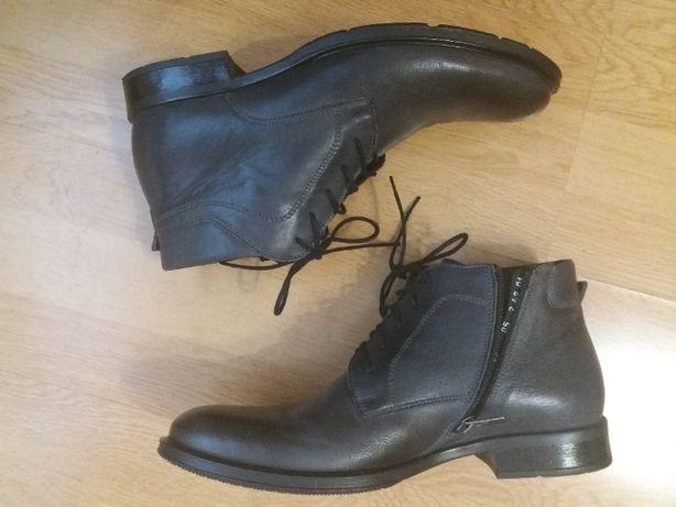 Мужские ботинки Rylko 42р кожаные состояние новых, зима весна осень