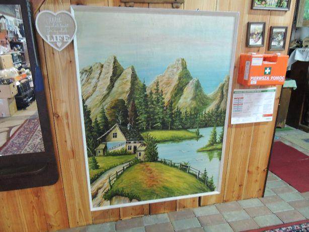 Duży piękny obraz na płycie malowany tylko 190 zł