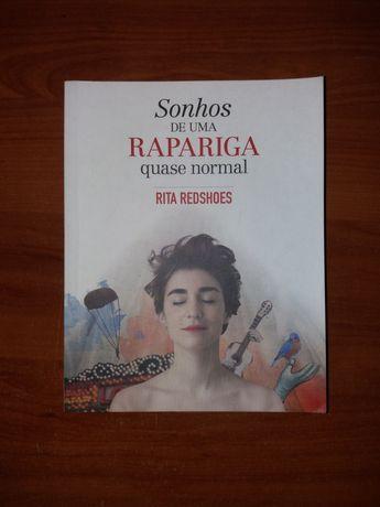 """Livro """"Sonhos de uma rapariga quase normal"""" de Rita Redshoes"""