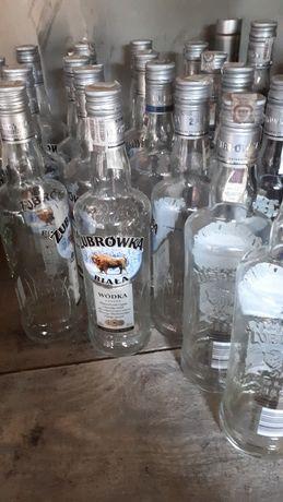 Butelki żubrówka pusta na soki, konfitury, likiery, itp