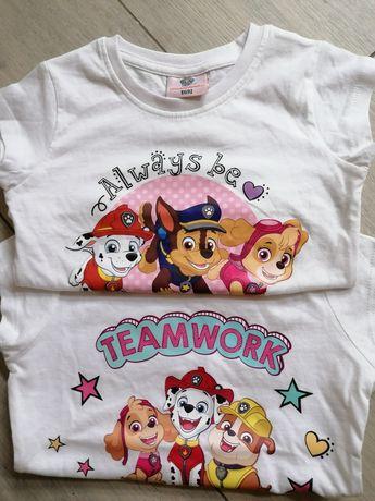 Bluzka psi patrol 2pack 86/92 dla dziewczynki nowe bez metki