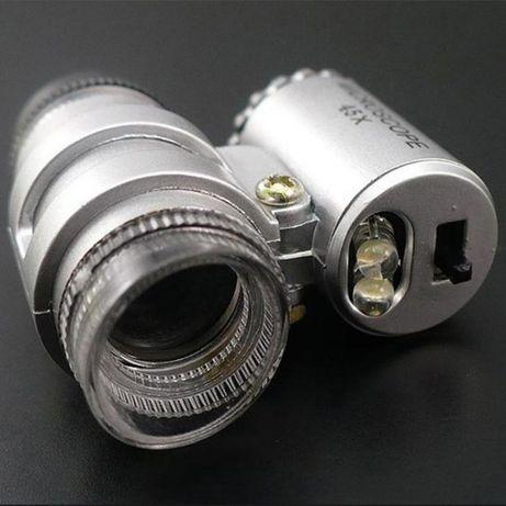 mini mikroskop /lupa/+ podświetlenie