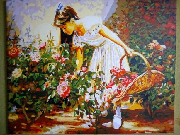"""Продам картину """"Девочка в саду"""""""